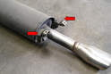 You are going to transfer over the hanging hardware from the exhaust tip pipe to the Fabspeed system.