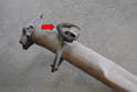 You are going to transfer over the hanger from the old pipe from the cat to muffler to the new one.