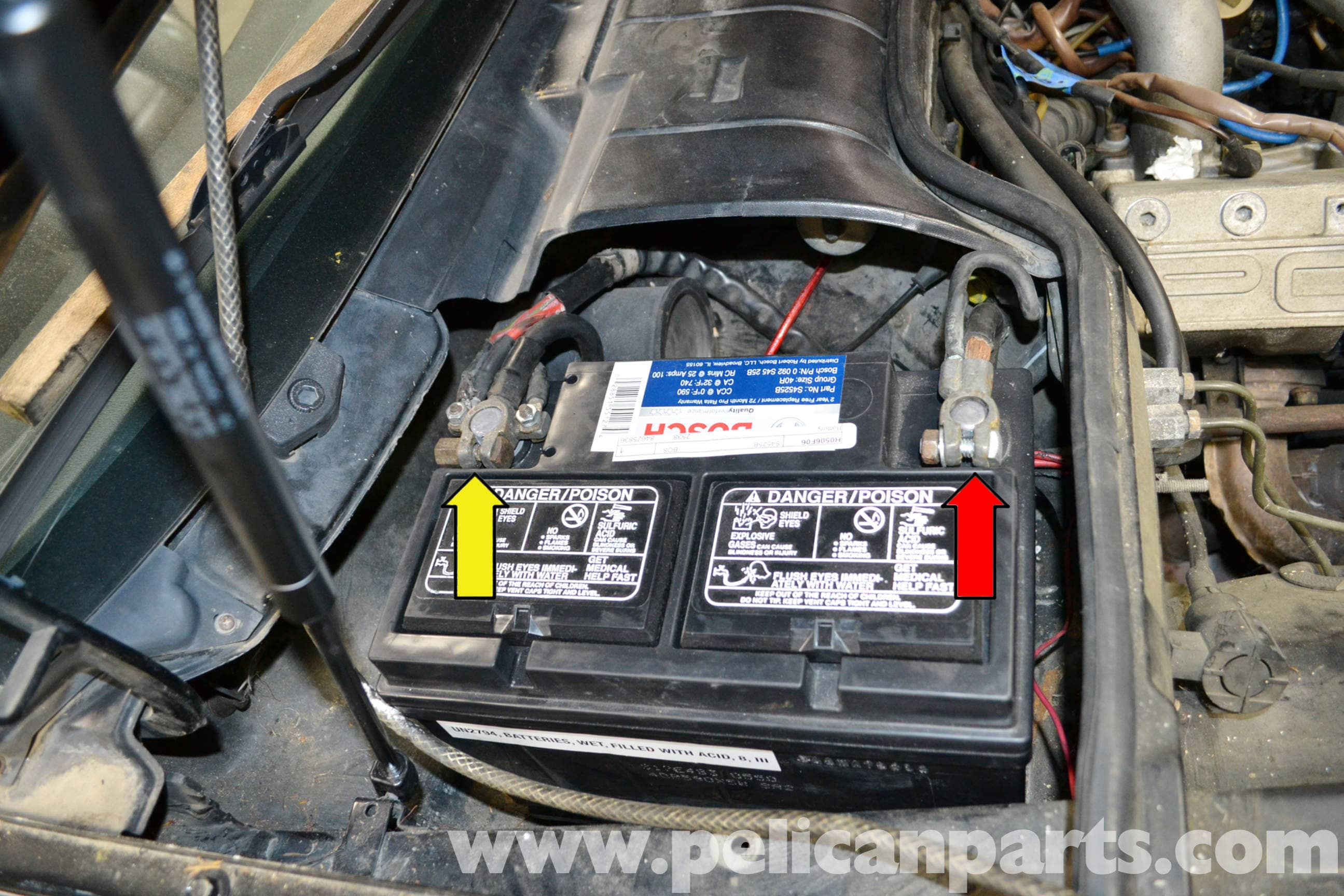 how to change headlight connection from engine to battery