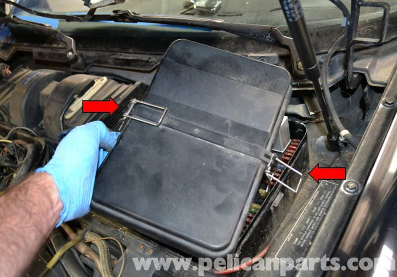 Porsche 944 Turbo Air Box And Air Flow Sensor Removal