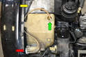 Windshield Pump- The reservoir is located in the front right corner of the engine bay.