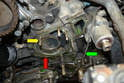 Remember to reroute the oil pressure sensor wire when reinstalling.