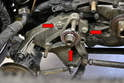 The lower balance shaft is similar with the difference being that the mount also contains the mount for the power steering pump and tensioner and idler for the belt, but it is still held in place by three 13mm bolts.