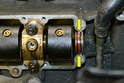This photo illustrates the rubber O-ring or seal on the end of the balance shaft housing.