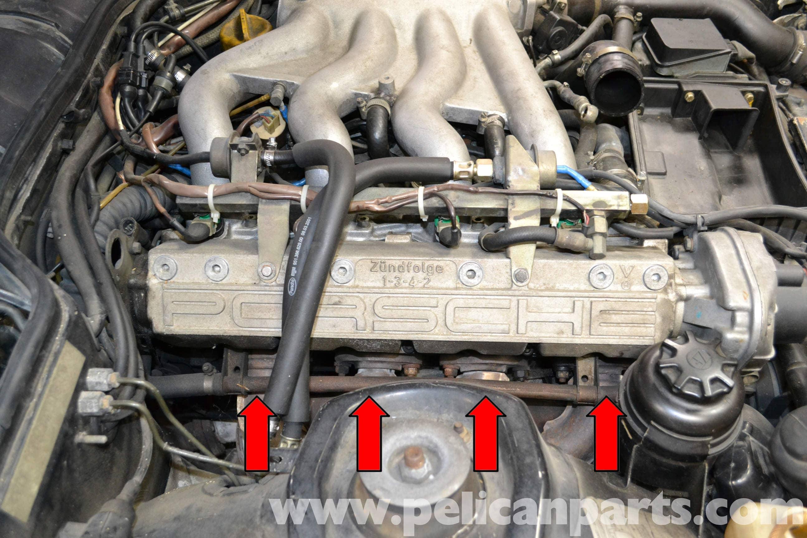 porsche 944 turbo exhaust manifold removal 1986 1991 pelican rh  pelicanparts com Porsche 944 Turbo Water
