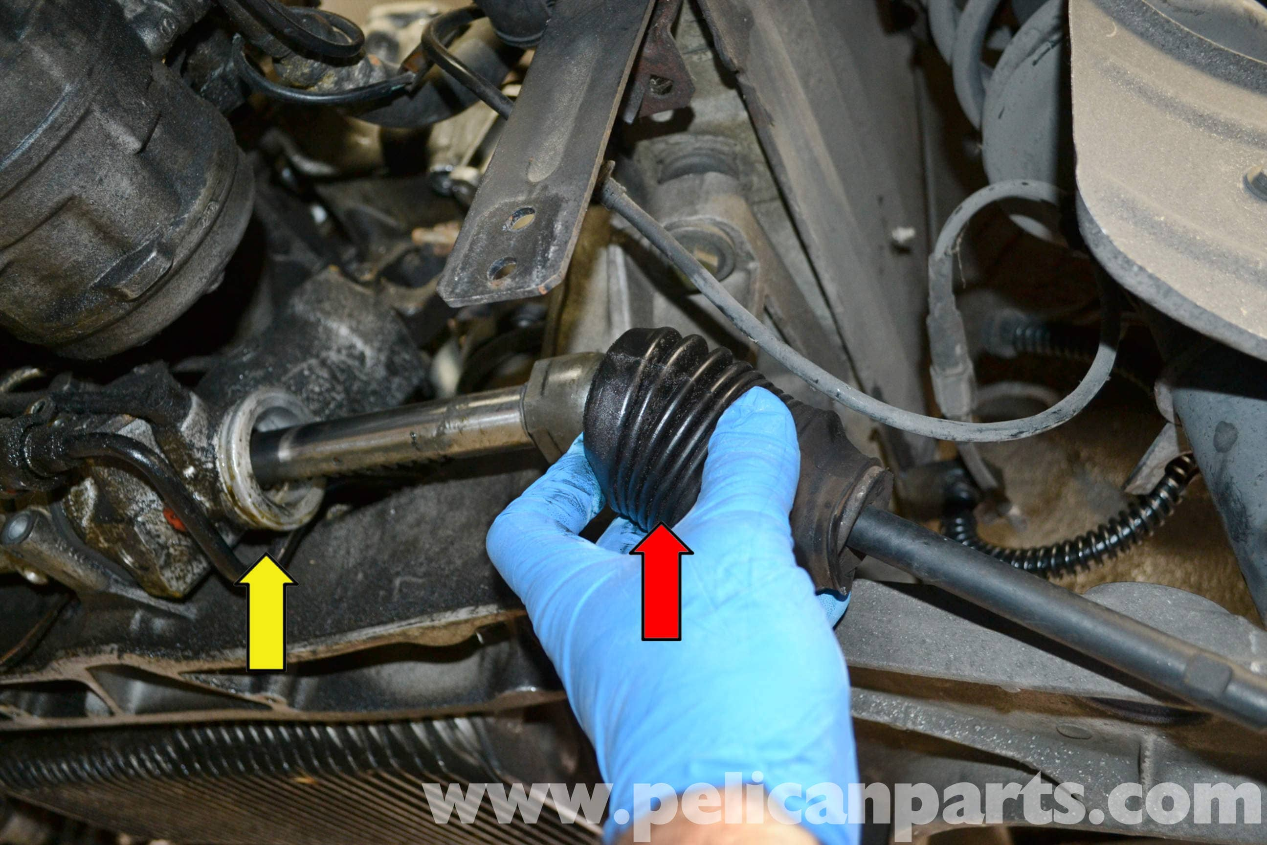 How to remove the steering rack 61