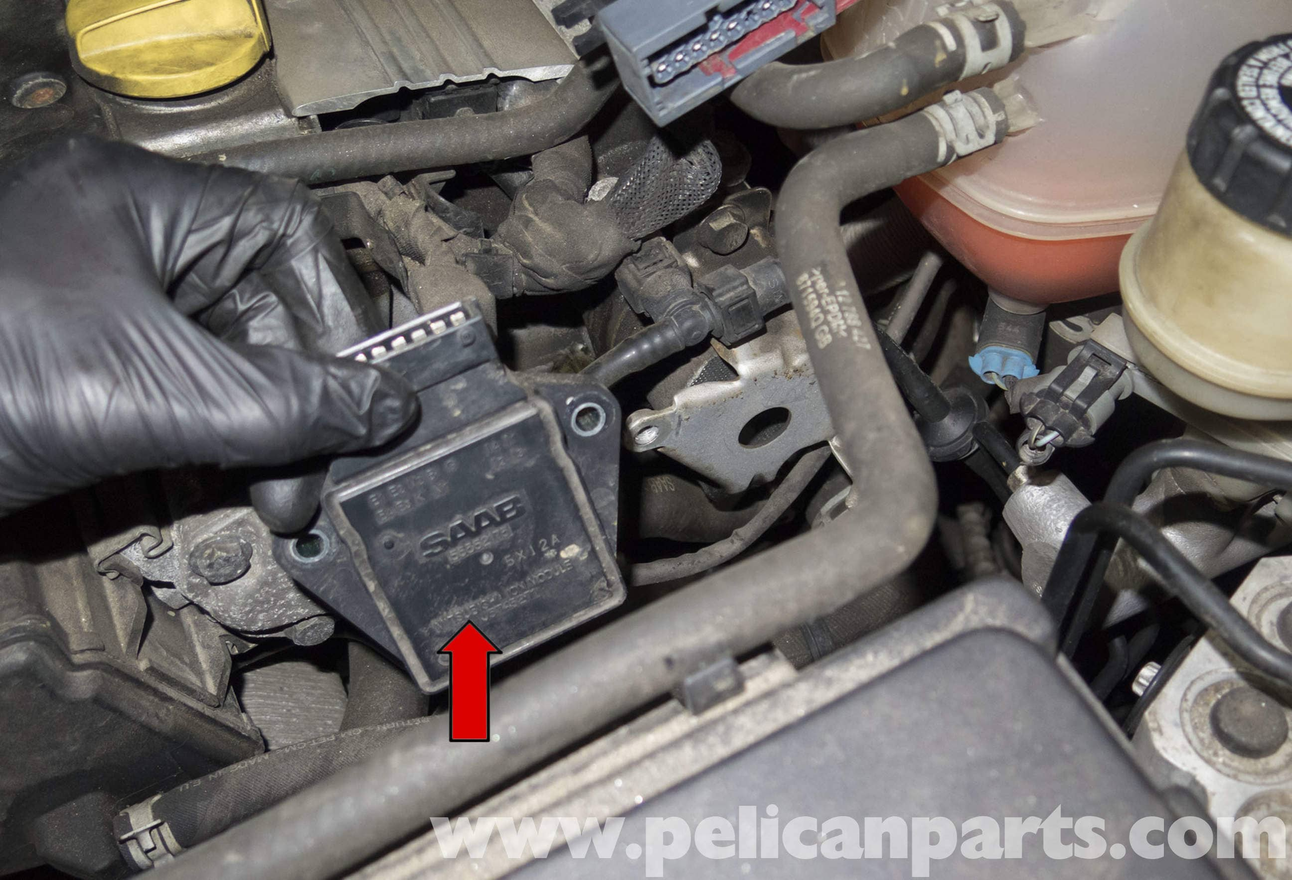 saab 9 3 ignition module replacement  2006 2007  pelican