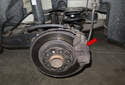 In this article, I will show you how to replace the brake pads and rotors (red arrow) on your vehicle.