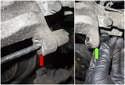 Next, replace the caliper fastener rubber insulators.