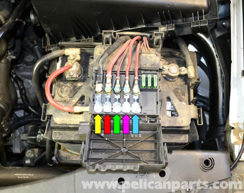 Underneath The Cover You Will See Fuses For Generator Yellow Arrow: Vw Mk4 Battery Fuse Box Surround At Gundyle.co