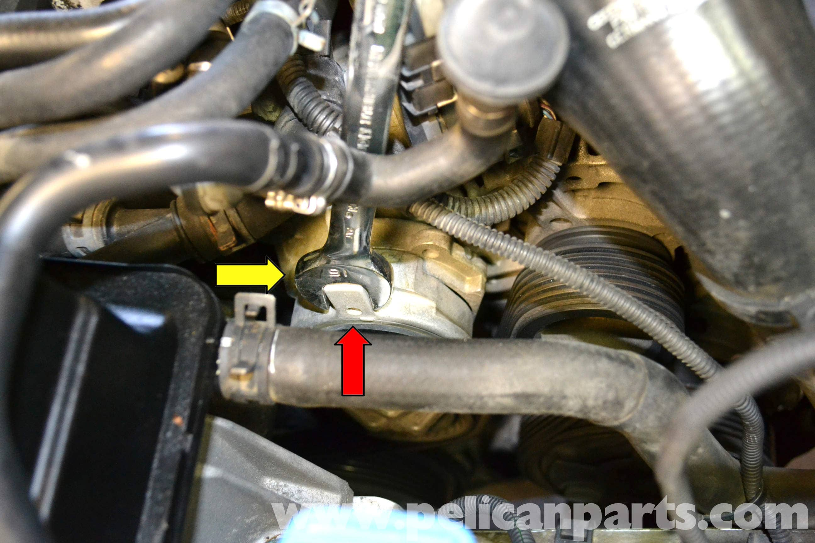 how to change a tensioner for volkswegon golf 2.0 1992