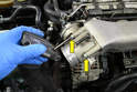 There are four 5mm Allen bolts (yellow arrows, two shown) that hold the throttle body to the intake manifold.