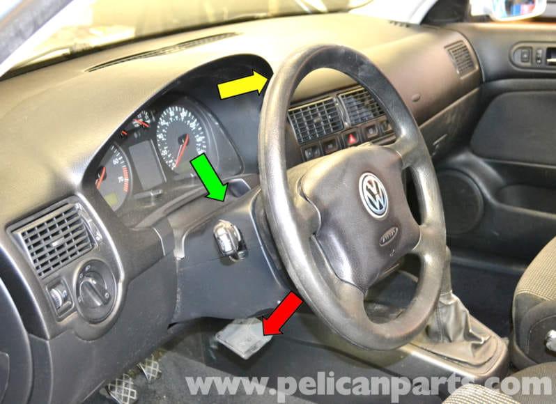 Volkswagen Golf Gti Mk Iv Instrument Cluster Removal 1999