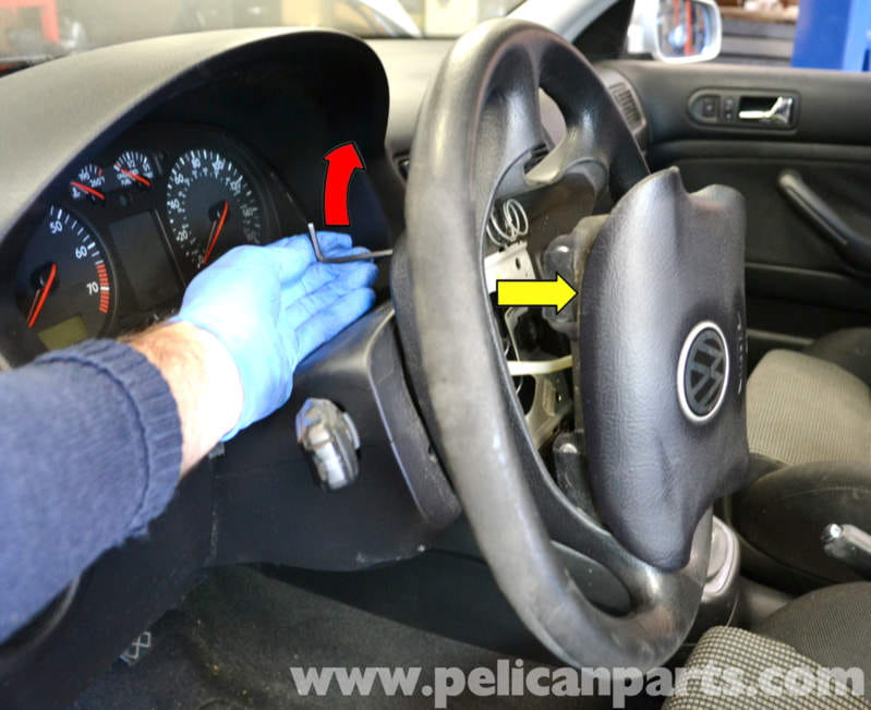 Volkswagen Golf GTI Mk IV Steering Wheel and Air Bag Removal (1999-2005) - Pelican Parts DIY ...