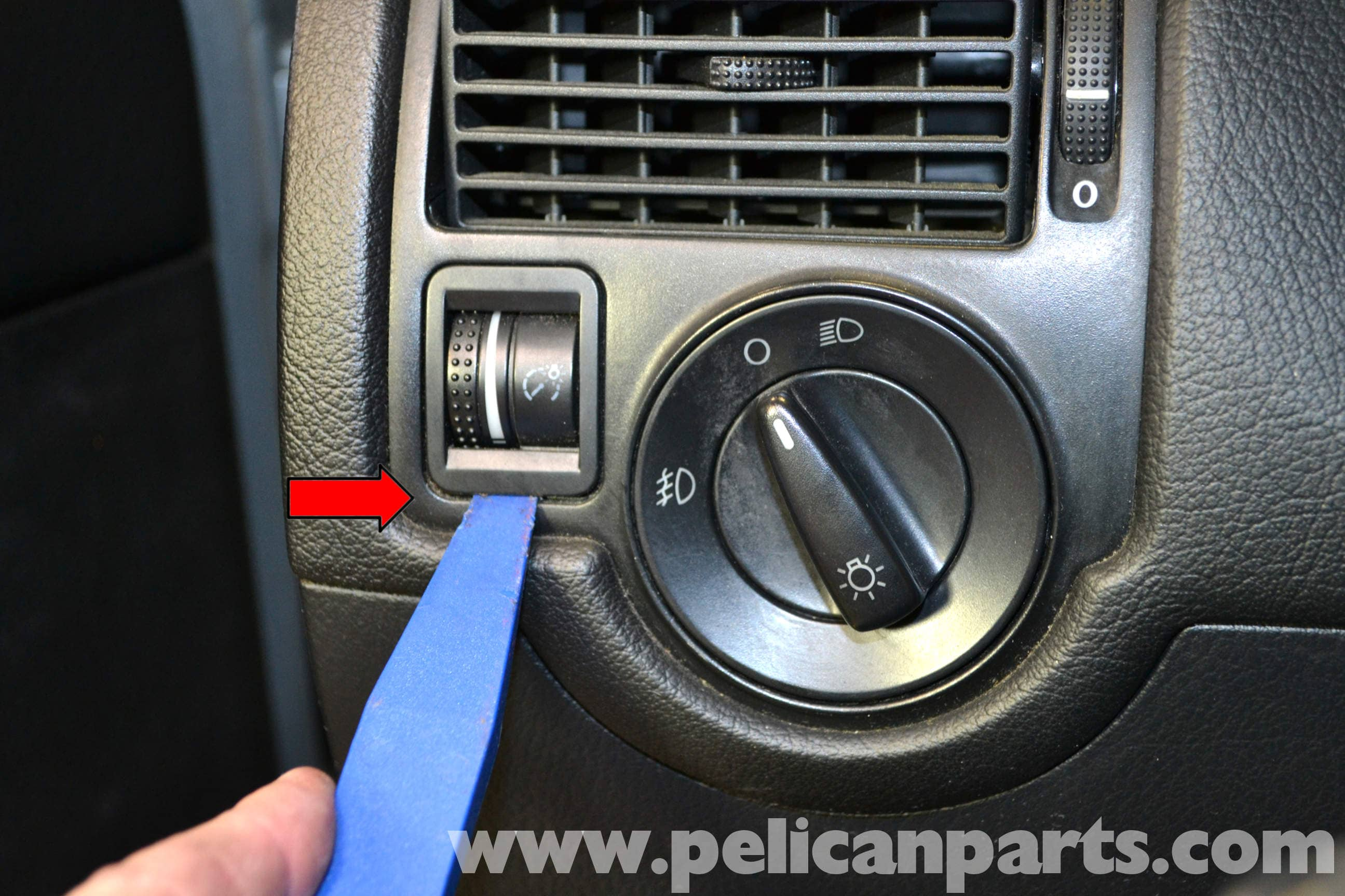 Mk Dimmer Switch Wiring Diagram : Volkswagen golf gti mk iv headlight and dimmer switch replacement