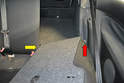 Lift the outside of the seat up (red arrow) and pull the inside section off the mount (yellow arrow).