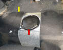 The fuel pump is located in the right side of the fuel tank.