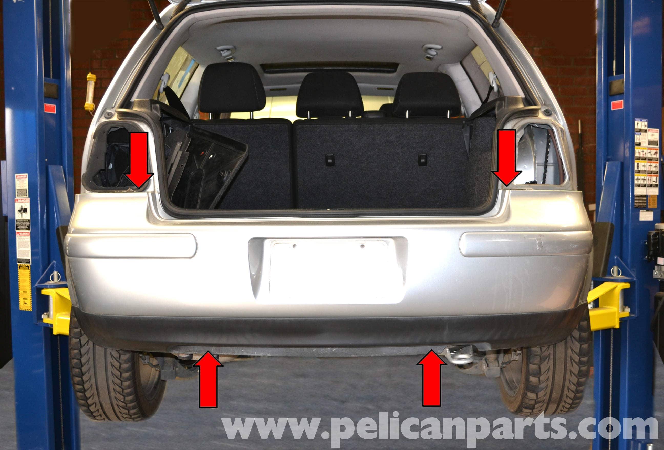 Volkswagen Golf GTI Mk IV Rear Bumper Removal (1999-2005