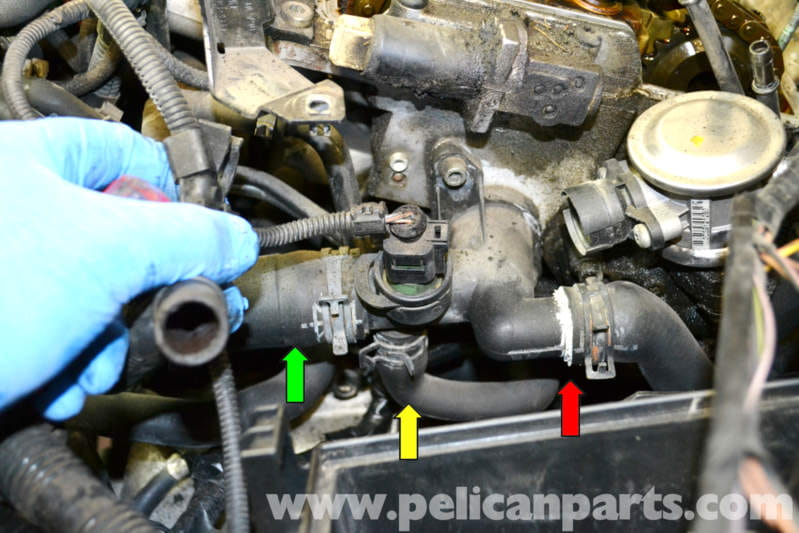 Volkswagen Golf GTI Mk IV Radiator Hose Replacement (1999-2005) - Pelican Parts DIY Maintenance ...