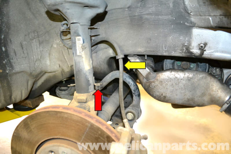 volkswagen golf gti mk iv front strut replacement (1999 2005leave the brake line attached to the caliper and hard line but remove the rubber flexible