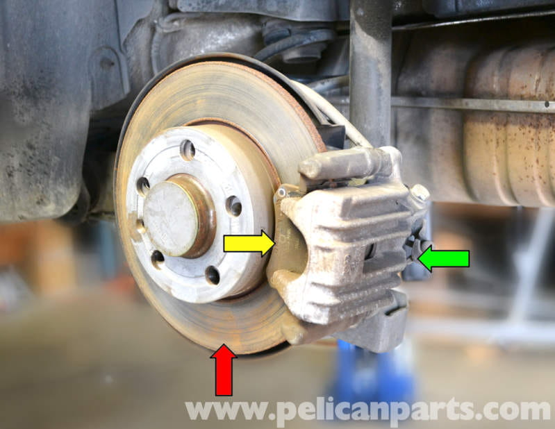 How Do You Bleed Brakes >> Volkswagen Golf GTI Mk IV Rear Brake Caliper Replacement ...