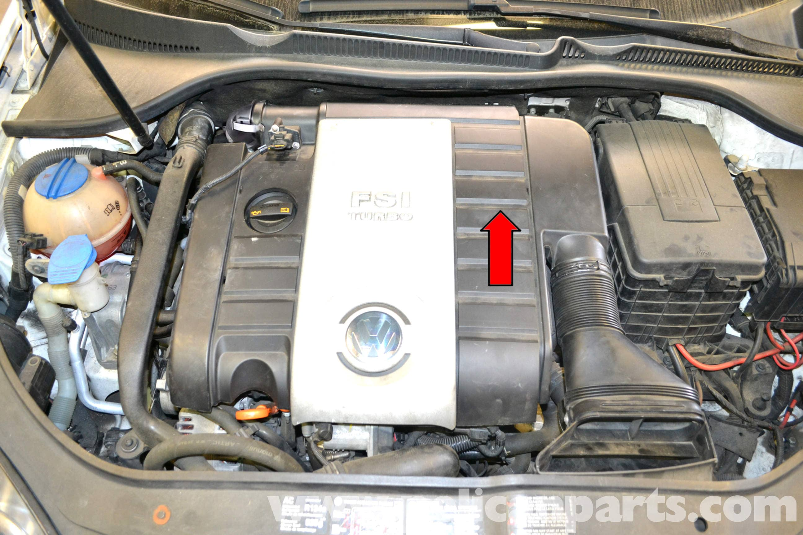 Volkswagen Golf Gti Mk V Engine Cover Removal 2006 2009 Pelican Parts Diy Maintenance Article