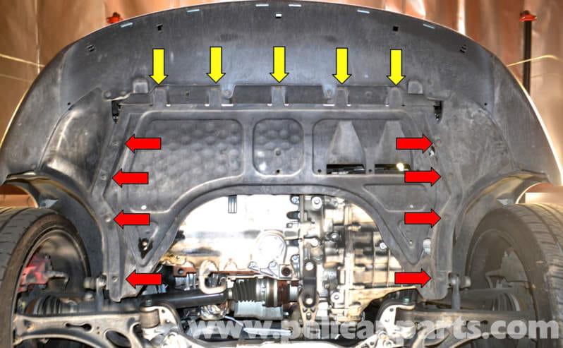 Volkswagen Golf Gti Mk V Under Body Tray Removal 2006