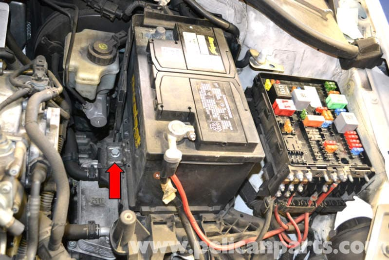 To Remove The Battery 13mm Bolt And Clamping Plate At Base Of: Vw Mk4 Battery Fuse Box Surround At Gundyle.co
