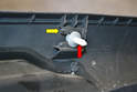 A Pillar Upper: Make sure to reinsert the clips (red arrow) back into the trim piece (yellow arrow) before reinstalling.