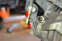 When installing your new line make sure that you have a new washer between the banjo bolt and fitting and the fitting and caliper (red arrows).