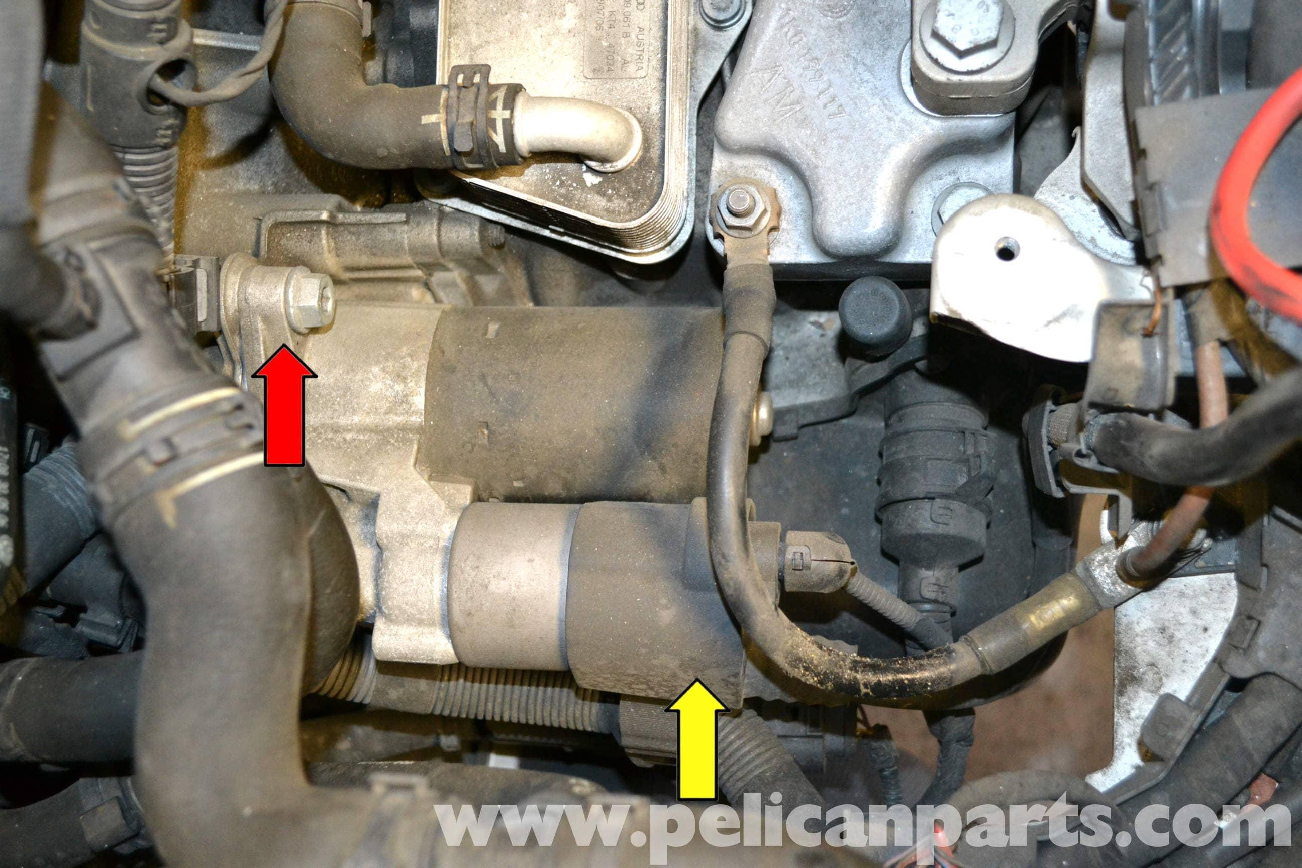 Volkswagen Golf GTI Mk V Starter Replacement (2006-2009) - Pelican Parts  DIY Maintenance Article [ 1728 x 2591 Pixel ]