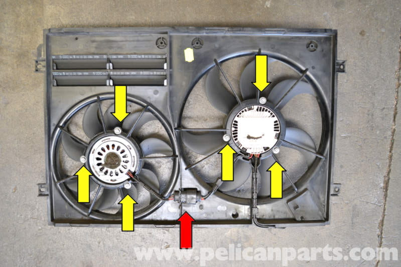 Volkswagen Golf Gti Mk V Shroud And Fan Removal  2006
