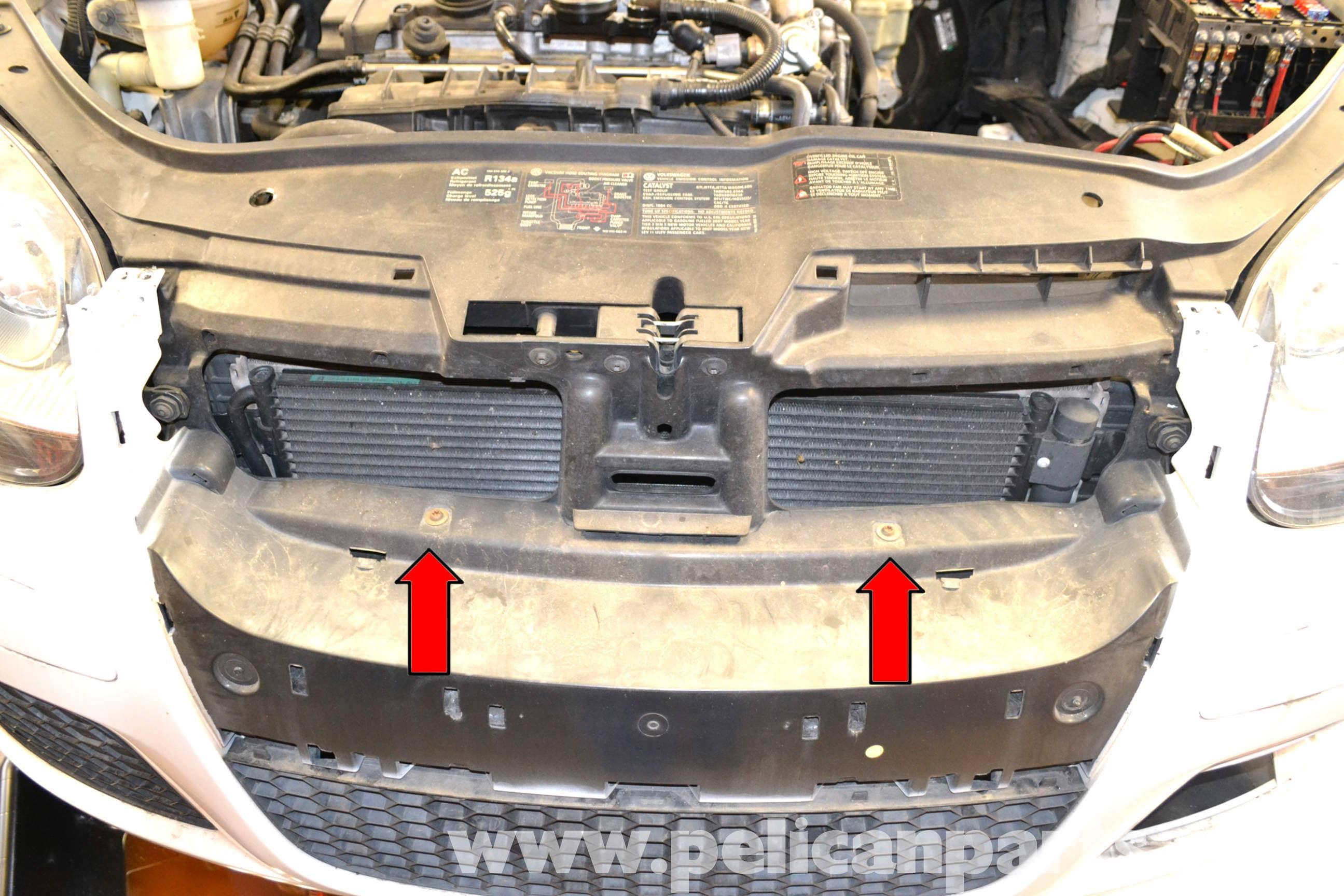 Volkswagen Golf GTI Mk V Front Bumper Removal (2006-2009) - Pelican