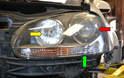 Headlight assemblies on GTI MkV can vary depending on the model.