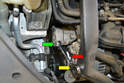 Compressor- Remove the ribbed drive belt and lock the tensioner in the locked position.