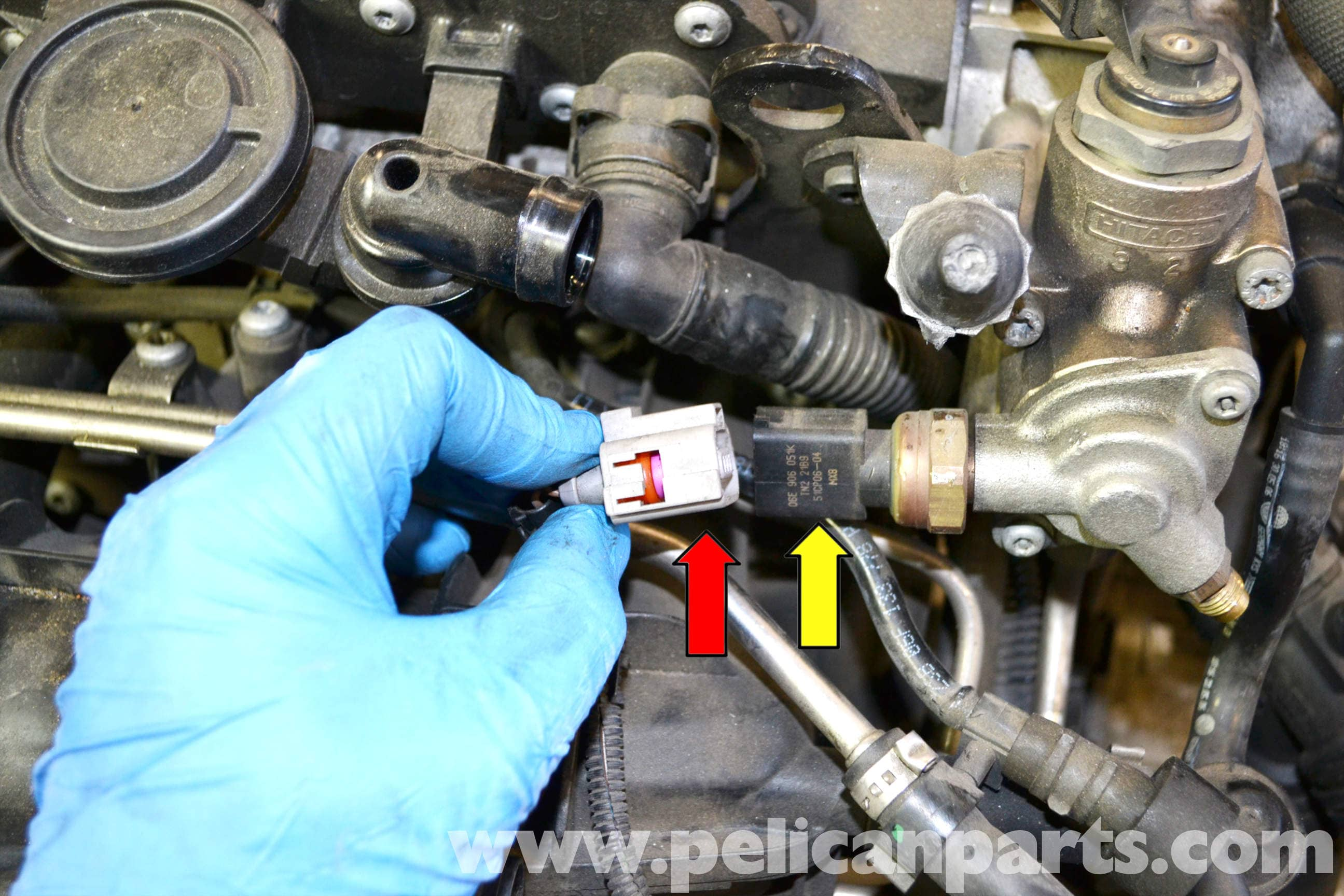 35 FUEL Low Fuel Pressure Sensor Replacement on tiguan electrical problems