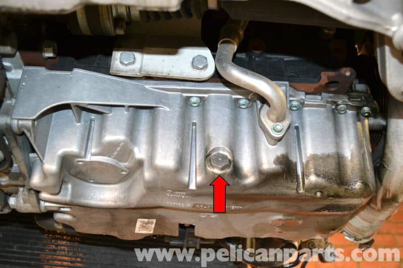 volkswagen golf gti mk  oil pan removal   pelican parts diy maintenance article