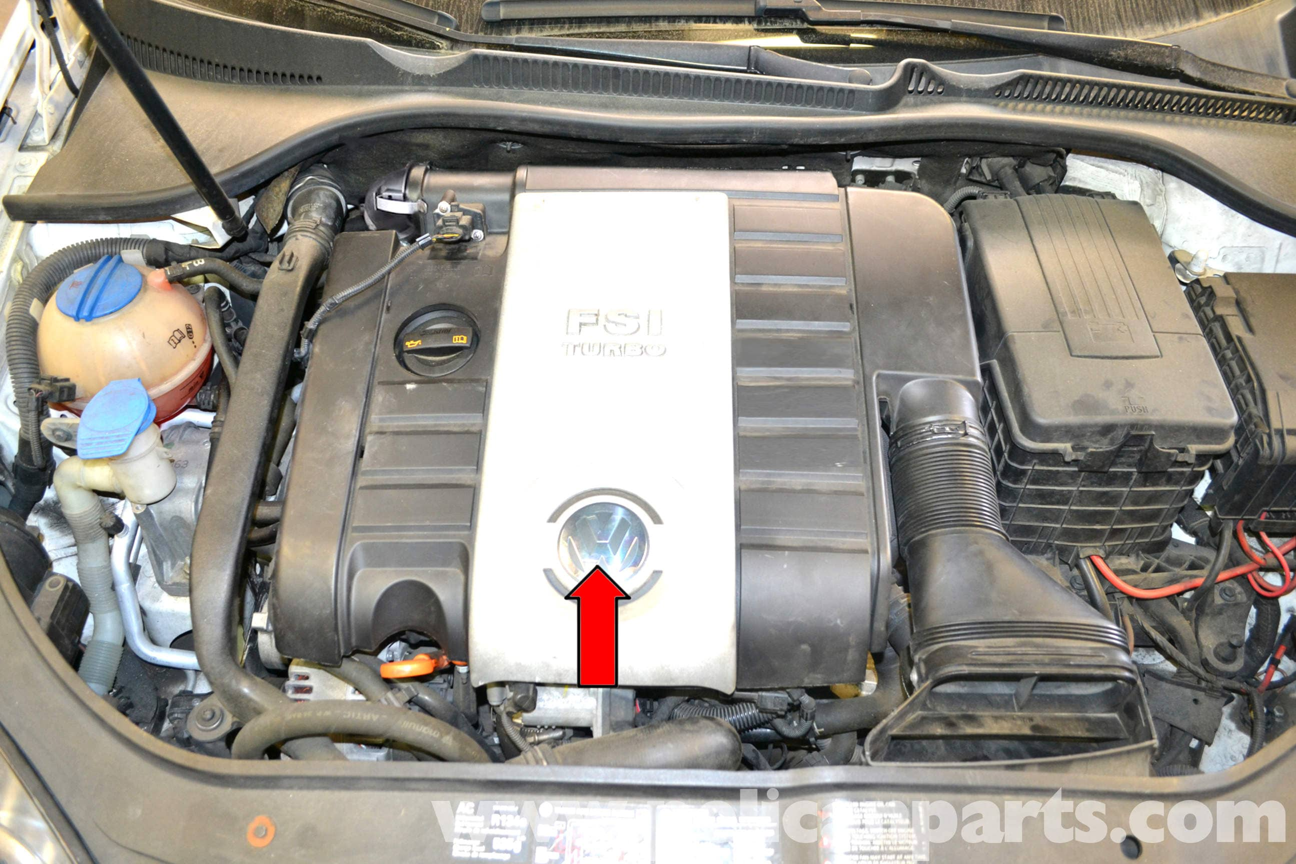 volkswagen golf gti mk v spark plug and coil replacement 2006 2009 rh pelicanparts com VW Engine Wiring Diagram VW 2.0 Turbo Engine Diagram