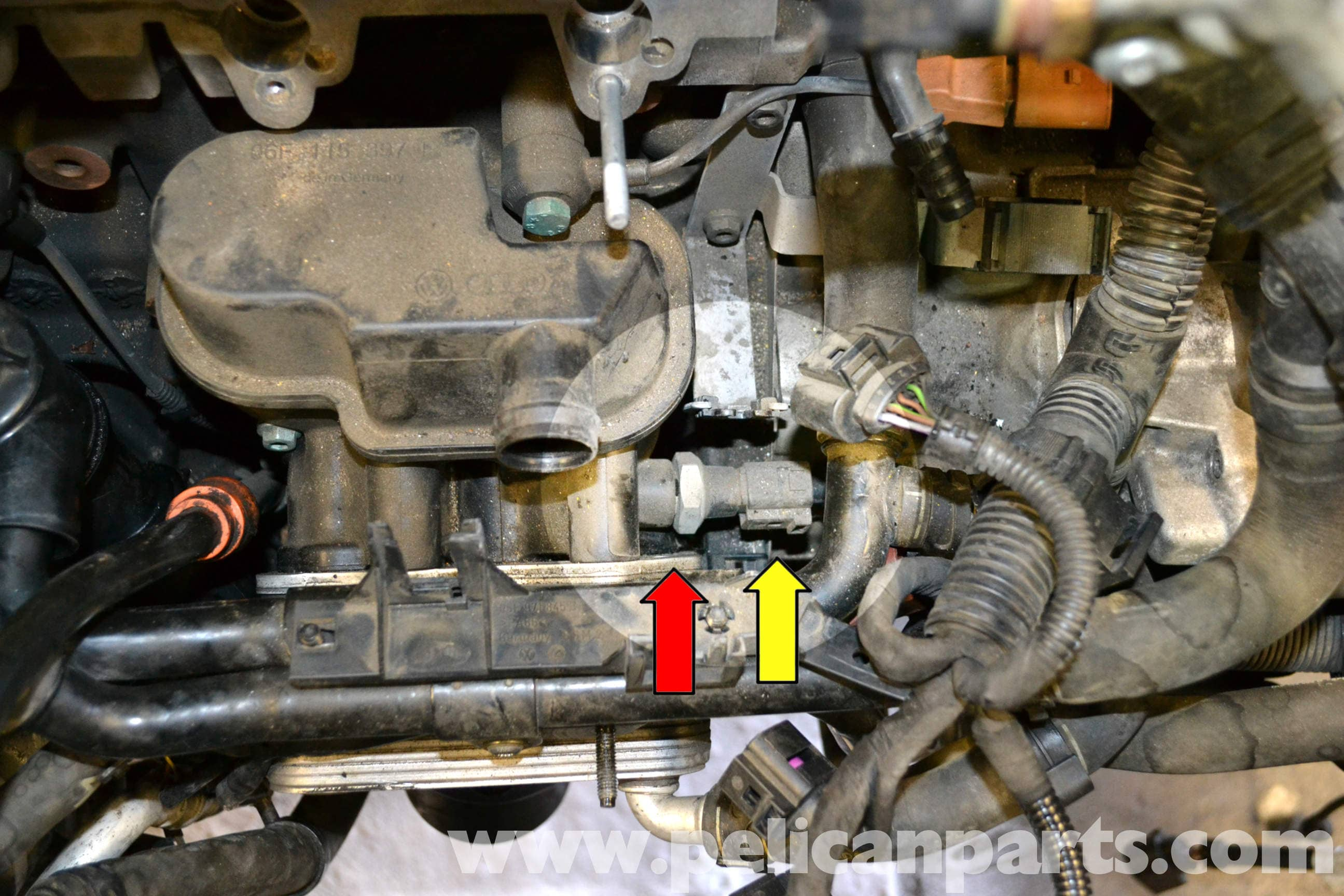 2012 vw passat oil pressure sensor location