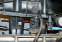 I have removed the manifold from the car and turned it over because it is impossible to get aPicture of the sensor with the manifold in the car.