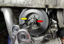 If you want to make a witness mark for the crank you will need to remove the crankshaft pulley.