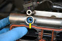If the injectors are in the head there is a very good chance the seal is in the fuel rail (yellow arrow).