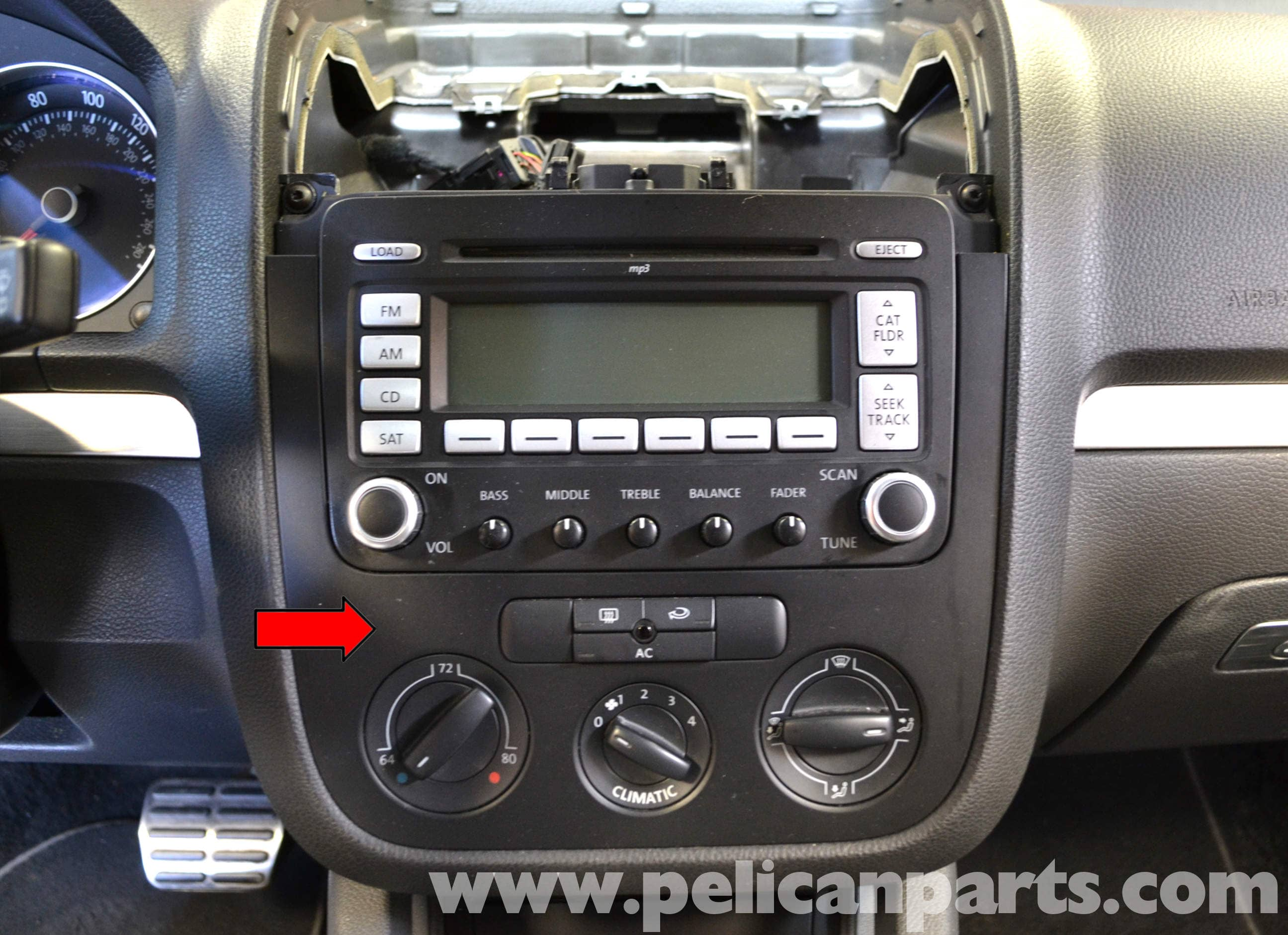 Volkswagen Golf Gti Mk V Climate Control Removals 2006 2009 Vw Passat Ac Wiring Large Image Extra