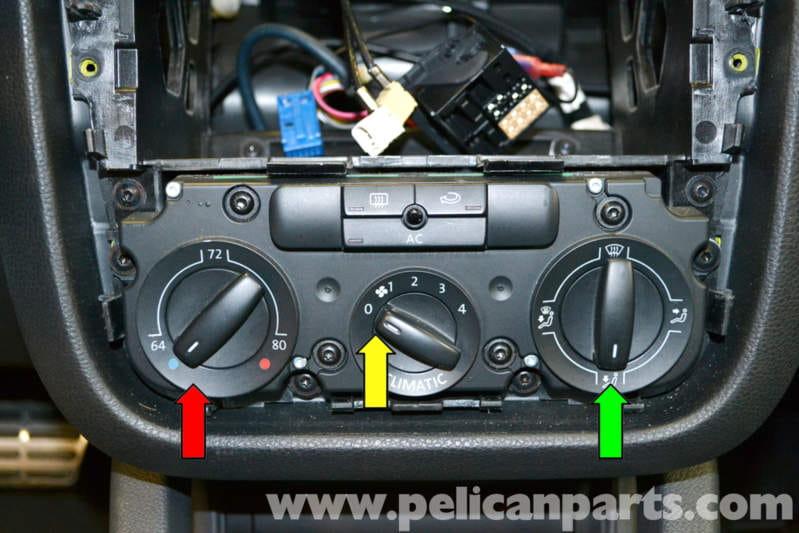 hvac panel wiring hvac transformer wiring diagram volkswagen golf gti mk v climate control removals 2006