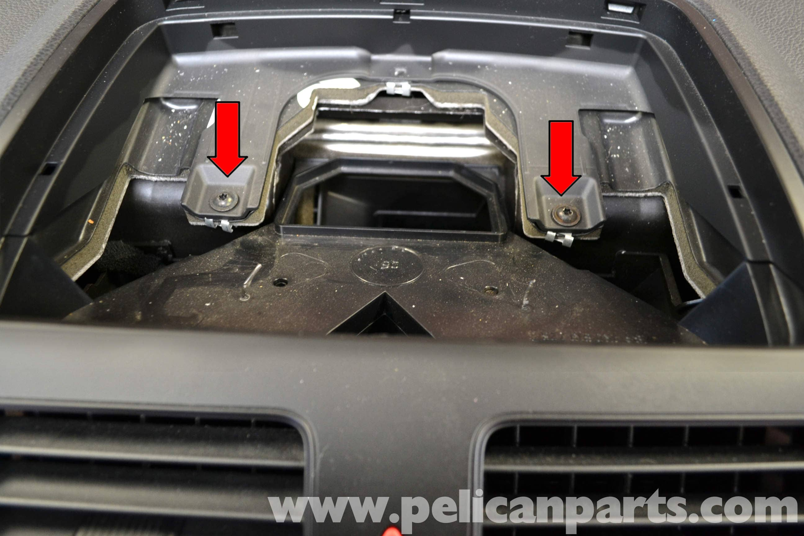 vw eos grill removal