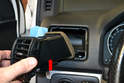 Side Vents - Pull the vent directly out from the dash (red arrow).