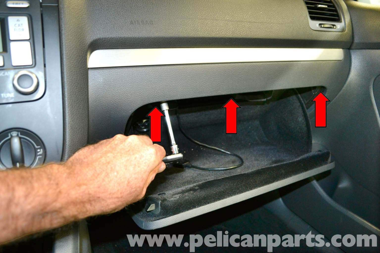 Volkswagen Golf Gti Mk V Glove Box Removal 2006 2009 Pelican 06 Jetta Tdi Ac Wiring Diagram Free Download Large Image