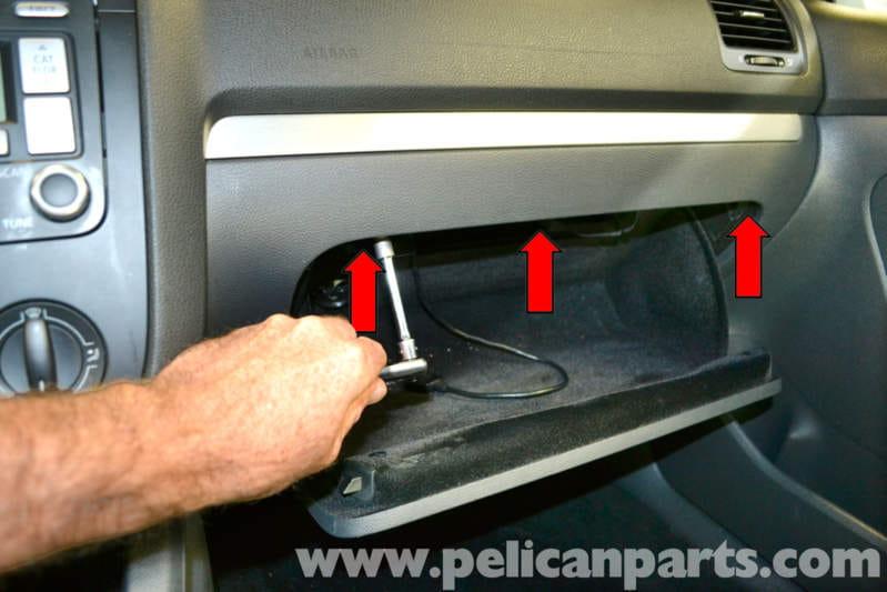 Glove compartment stuck shut
