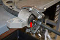 You can remove the arm from the rear mount.