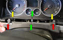 Pull the center trim piece in front of the gauge cluster straight back from the cluster.